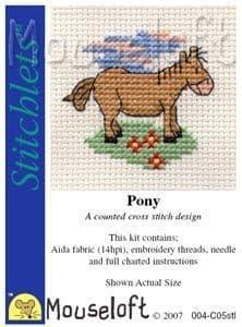 Mouseloft Pony Stitchlets cross stitch kit